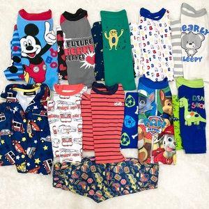 10 Pairs of Pajamas | Assorted Toddler PJ 18 Month